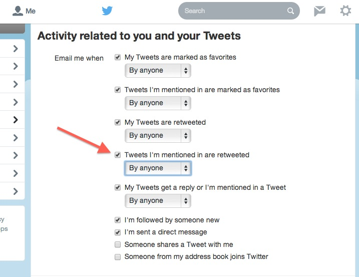 How to stop Twitter email notifications