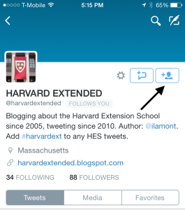 Twitter how to follow someone on an iPhone