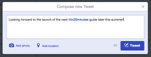 How to create a tweet