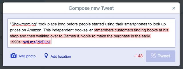 Tweet over 140 characters